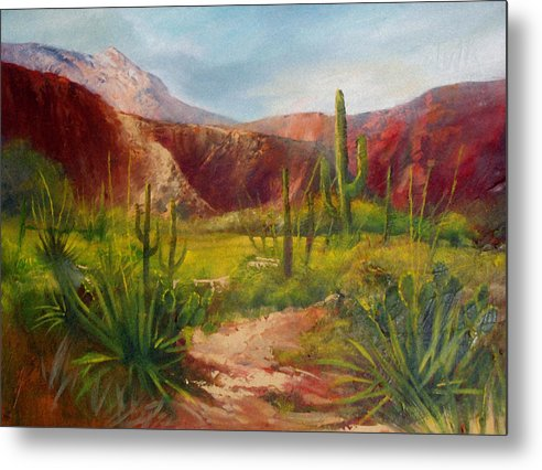 Landscape Metal Print featuring the painting Arizona Beauty by Robert Carver