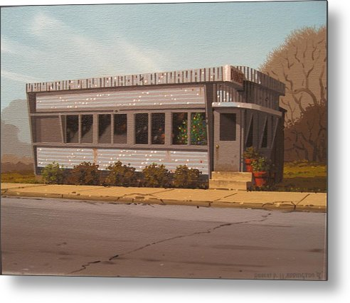 Diner Metal Print featuring the painting Holiday Diner by Robert P Waddington