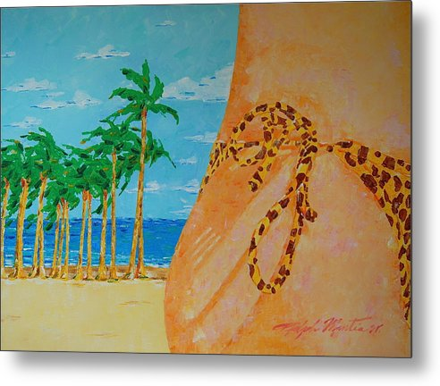 Beach Art Metal Print featuring the painting Beach Side View by Art Mantia