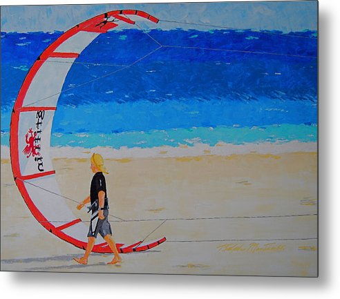 Beach Art Metal Print featuring the painting Dreamer Disease Vi Water And Wind by Art Mantia
