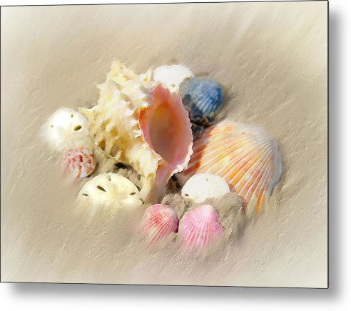 Beach Art Metal Print featuring the painting Gifts From The Sea by Carolyn Staut