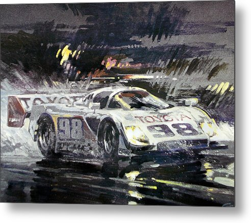 Automotive Painting;acrylic Painting;race Car;racing;toyota;automotive;car; Metal Print featuring the painting Sebring 12 Hour by Don Getz