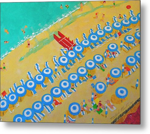 Beach Art Metal Print featuring the painting Beach At Sorrento by Art Mantia