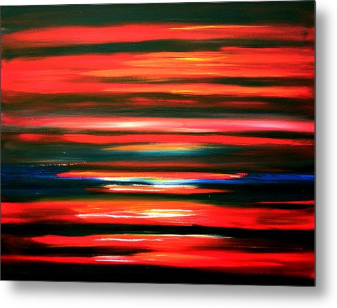 Caribbean Metal Print featuring the painting Fire Water by Sula Chance