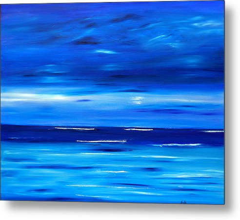 Caribbean Metal Print featuring the painting Tranquil Tide by Sula Chance