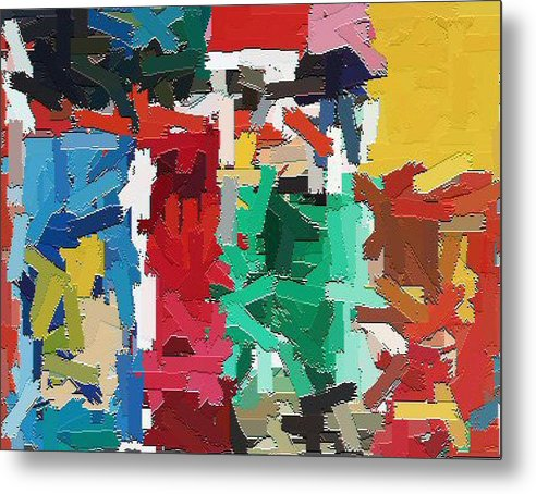 Abstract Metal Print featuring the painting Cleaning The Palette by Don Phillips
