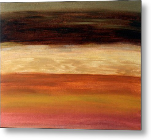 Fine Art Metal Print featuring the painting Nothing More To Prove by Shiree Gilmore