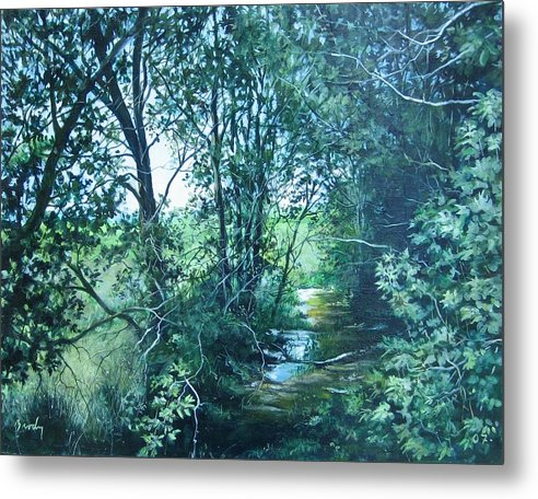 Landscape Metal Print featuring the painting To The Field by William Brody