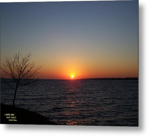 Sunset Metal Print featuring the photograph Winter Sunset by Patrick J Maloney