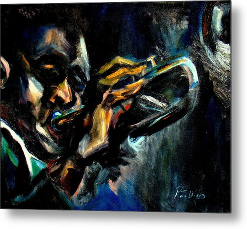 Musical Metal Print featuring the painting Expressing Emotion by Patrick Mills