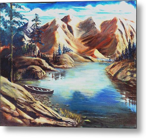 Rugged Mountains Metal Print featuring the print Nature by George Markiewicz