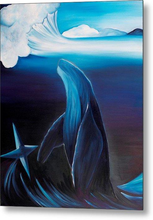 Metal Print featuring the painting Rising Spirit by Ara Elena