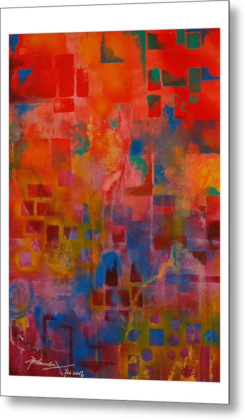 Abstract Metal Print featuring the painting Untitled by Padmakar Kappagantula