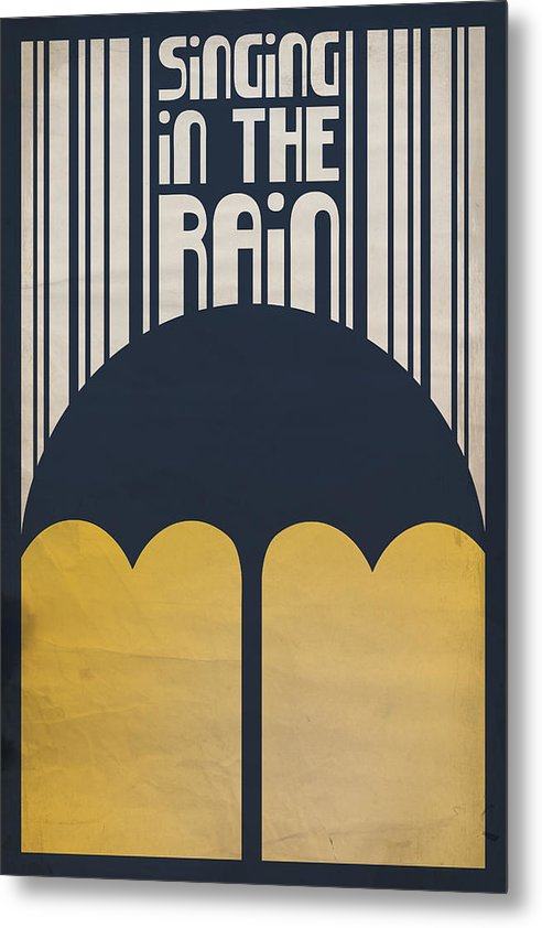 Gene Kelly Metal Print featuring the digital art Singin' In The Rain by Megan Romo
