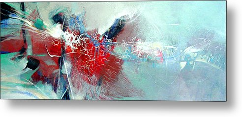 Abstract Metal Print featuring the painting Body Talk by Dale Witherow