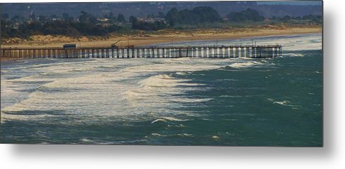 Beach Metal Print featuring the photograph Pismo by Jen Shaffer