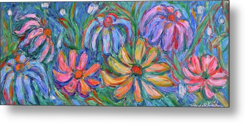 Flowers Metal Print featuring the painting Imaginary Flowers by Kendall Kessler