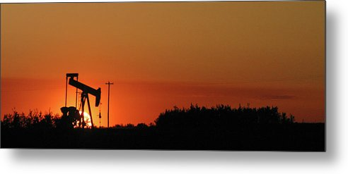 Oil Metal Print featuring the photograph Oil Pump Jack 9 by Jack Dagley