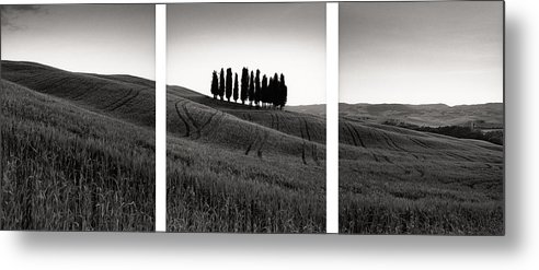 Tuscany Metal Print featuring the photograph Tuscany Triptych by Michael Hudson