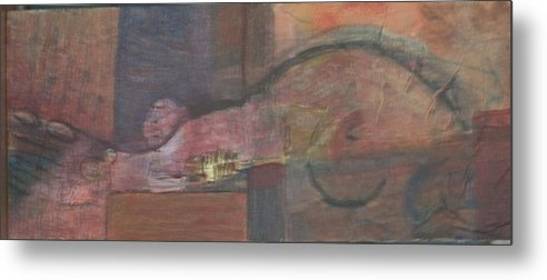 Abstract Metal Print featuring the painting My Guitar Gently Crawls by Kevin Stevens