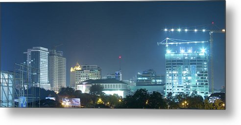 Insogna Metal Print featuring the photograph Up Town Cebu City Lights by James BO Insogna