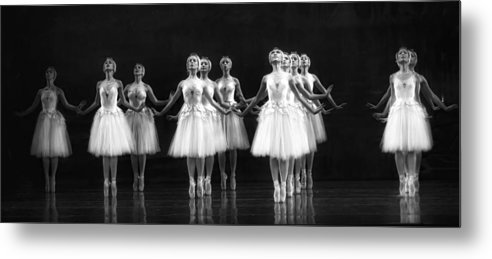 Dance Metal Print featuring the photograph All In A Row by Kenneth Mucke