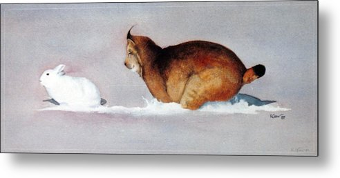 Metal Print featuring the painting Last Chase by Kirby Crow