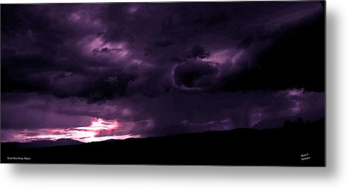 Clouds Metal Print featuring the photograph Purple Rain Clouds Majesty by Diane C Nicholson