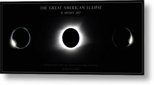 Great American Eclipse Metal Print featuring the photograph Great American Eclipse - Triptych by Jonathan Sabin