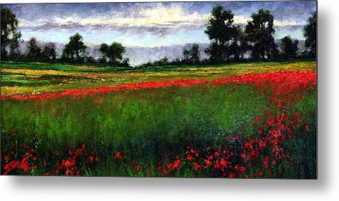 Landscape Metal Print featuring the painting Colorburst by Jim Gola