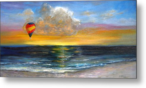 Landscape Metal Print featuring the painting Fly Away by Jeannette Ulrich