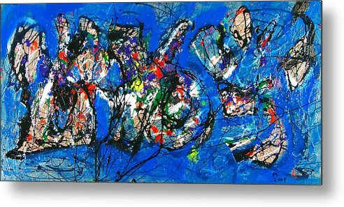 Abstract Metal Print featuring the painting Urban Landscape by Paul Freidin