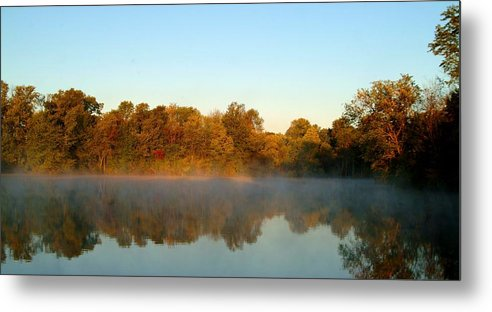 Autumn Metal Print featuring the photograph 091709-32 by Mike Davis
