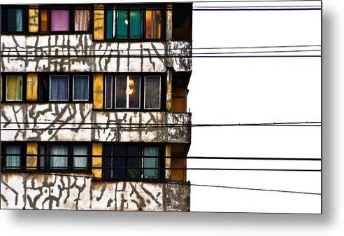 Lines Metal Print featuring the photograph Lines by Vadim Grabbe