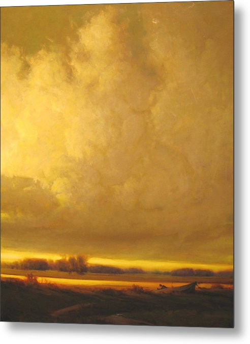 Landscape Metal Print featuring the painting Fished Out by Martin Poole