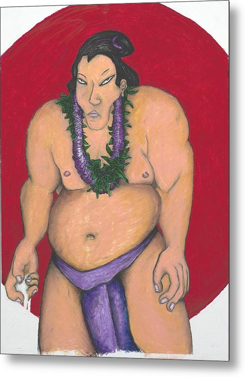 Sumo Metal Print featuring the painting Maui Sumo by Billy Knows