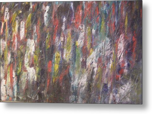 Abstract Metal Print featuring the painting Jungle Spirits by Don Phillips