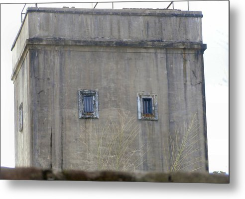 Door Metal Print featuring the photograph Old Historical Chinese Watch Tower by Kathy Daxon