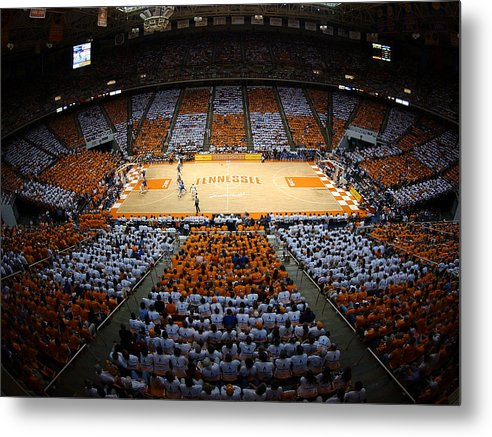 Tennessee Metal Print featuring the photograph Tennessee Volunteers Thompson-boling Arena by Replay Photos