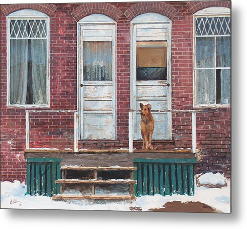 Landscape Metal Print featuring the painting Alone Again by Greg Clibon