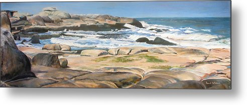 Paysage Metal Print featuring the painting Bretagne 2 by Muriel Dolemieux