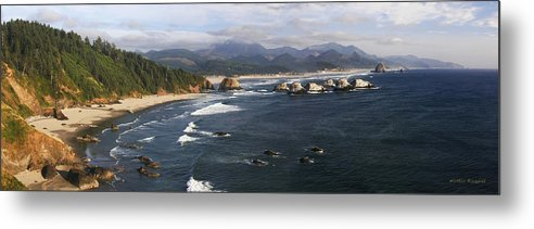 Ocean Metal Print featuring the photograph Ecola Vista by Winston Rockwell