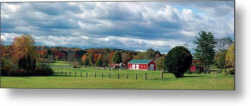Landscape Metal Print featuring the photograph Farmland by Steven W Rand