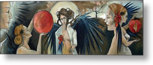 Angels Metal Print featuring the painting Sketchbook Processional by Jacque Hudson