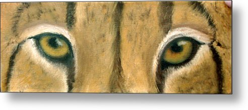 Cheeta Metal Print featuring the painting Whos Watching Who Cheeta by Darlene Green