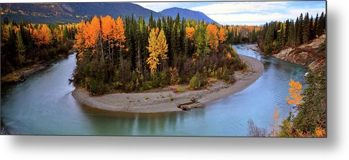 Metal Print featuring the digital art Panoramic Northern River by Mark Duffy