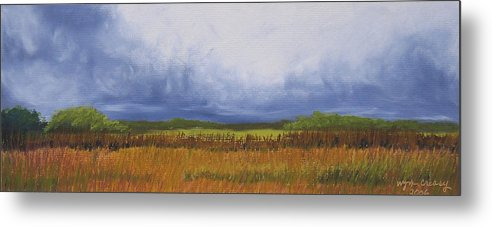 Virginia Landscape Metal Print featuring the painting Brewing Storm Clouds by Wynn Creasy