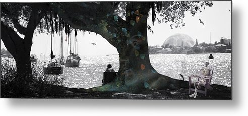 Skeleton Metal Print featuring the digital art Deeply Rooted by Betsy Knapp