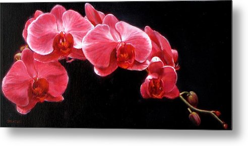 Floral Metal Print featuring the painting Orchids by Takayuki Harada