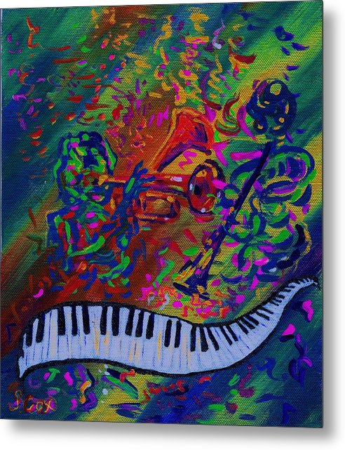 Jazz Painting Metal Print featuring the painting Saint Antony by Stephanie Cox
